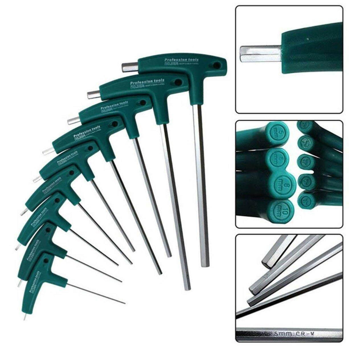Best Sales T-Handle Hex Allen Key Screws Screwdriver Driver Tool Flat Head Wrenches Set