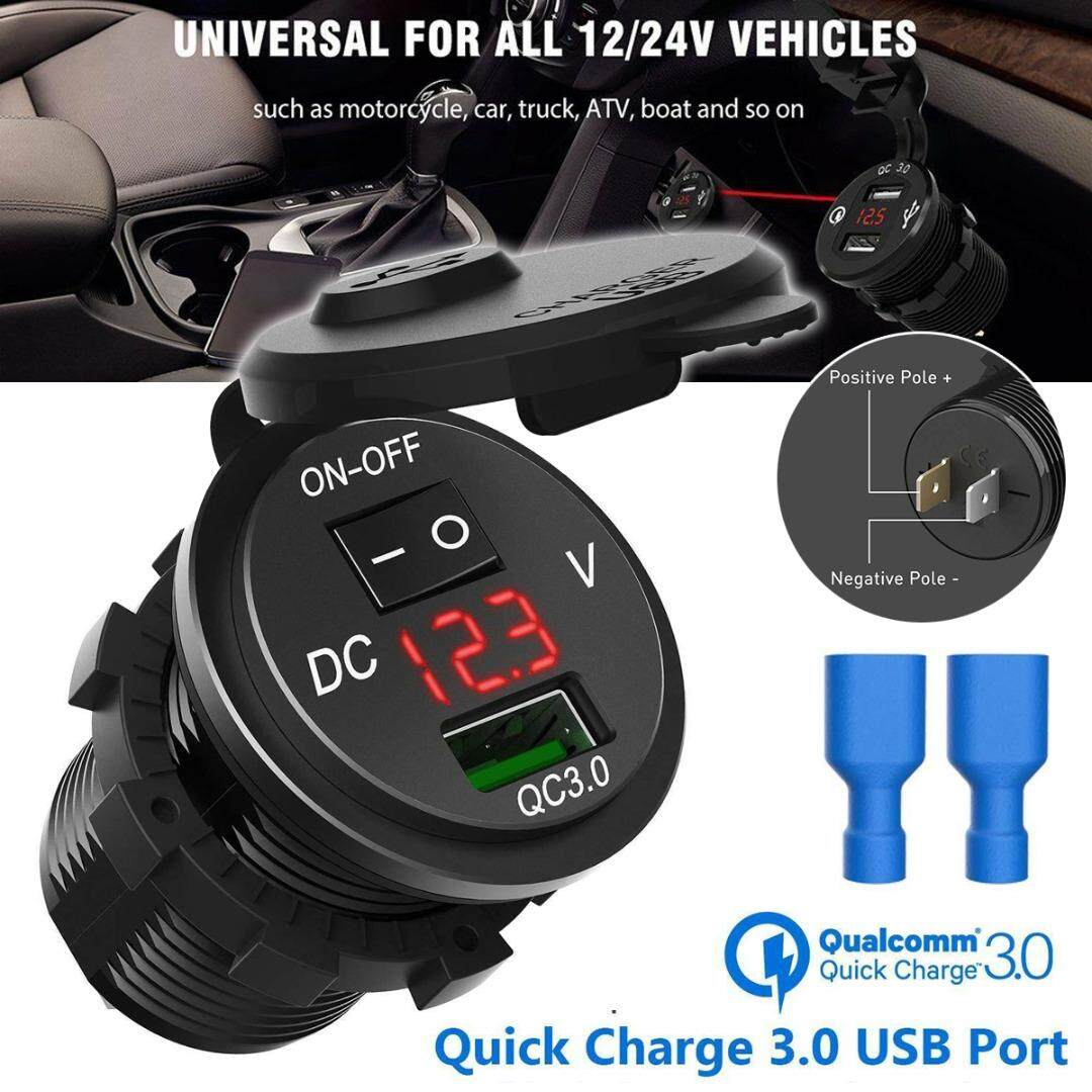 New QC 3.0 USB Car  Socket Splitter Fast Charger Adapter Outlet