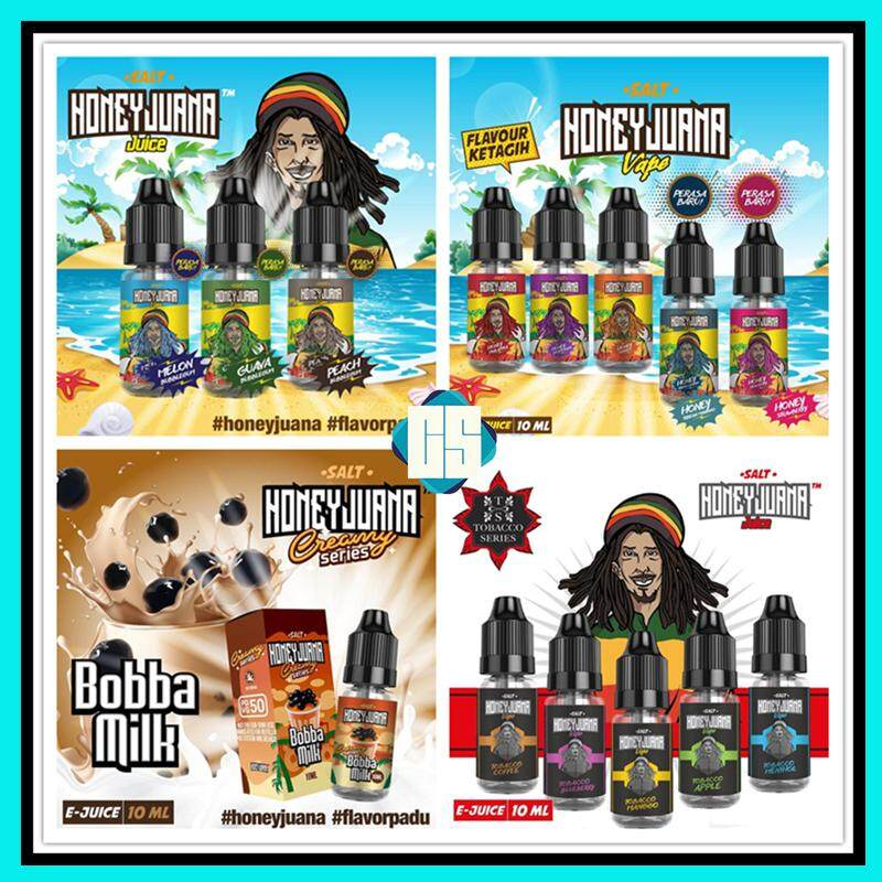 HoneyJuana Salt Edition Full Series Fruity Flavor Tobacco Series Creamy Series Flavour 35MG / 50MG HoneyJuana Vape Salt Vape Pod Honey Juana Saltnic Ejuice Eliquid 10ML Malaysia
