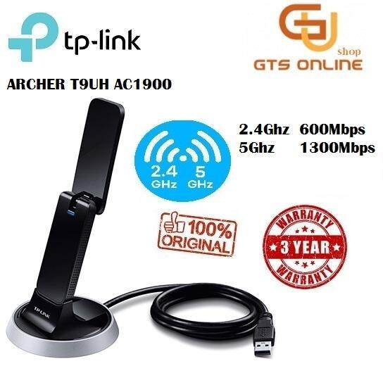 Tp-Link Ac1900 2.4ghz + 5ghz Wireless High Gain Dual Band Usb Wifi Adapter Archer T9uh By Good Tech.