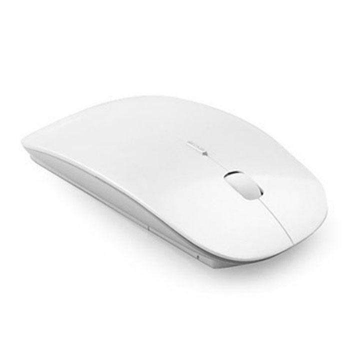 Slim 2.4 GHz Optical Wireless Mouse + Receiver For Laptop PC Mac White