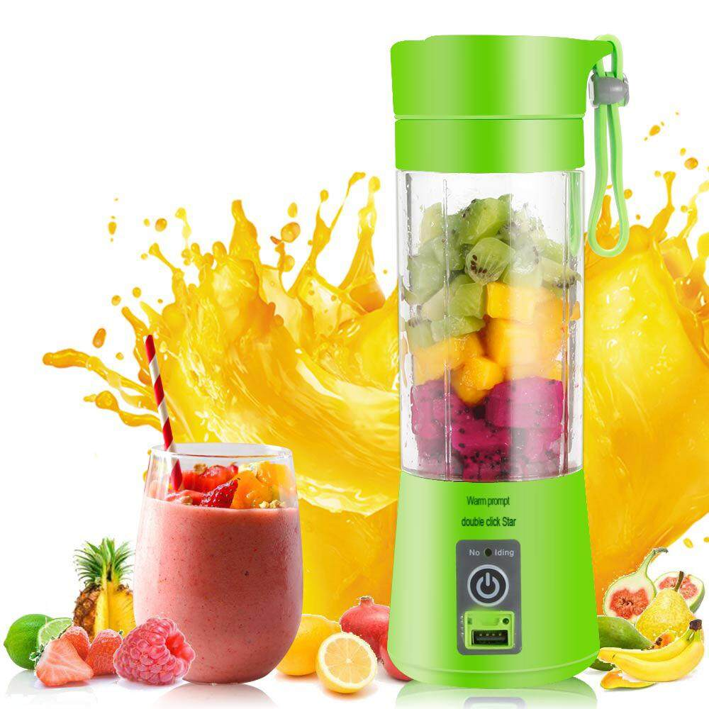 Portable household electric juicer mini juicer cup small rechargeable glass USB juice glass # Glass Cup