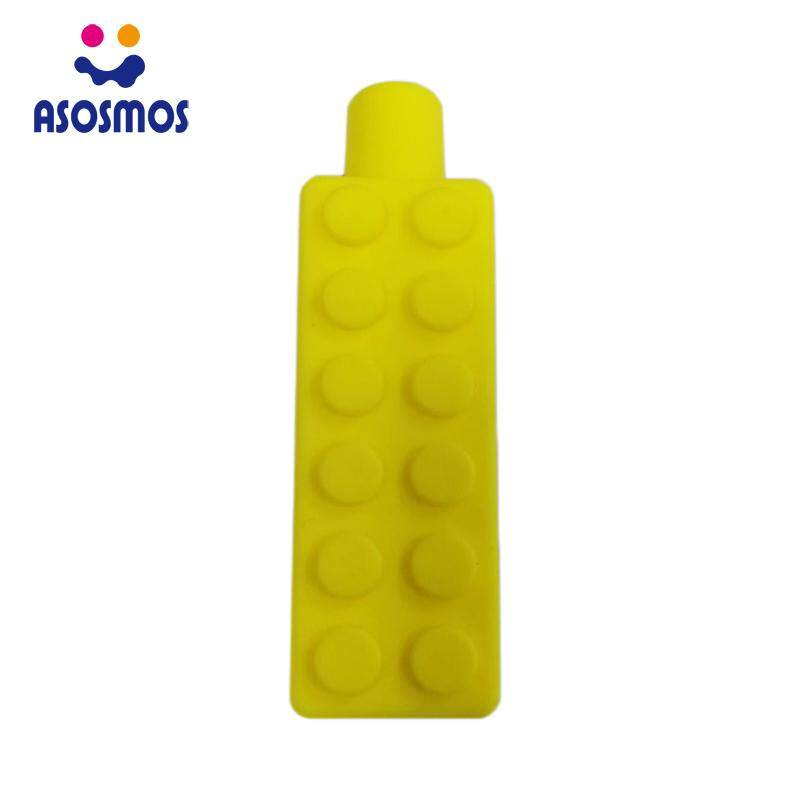 1 Pc Sensory Chew Necklace Brick Chewy Kids Silicone Biting Pencil Topper  Toy