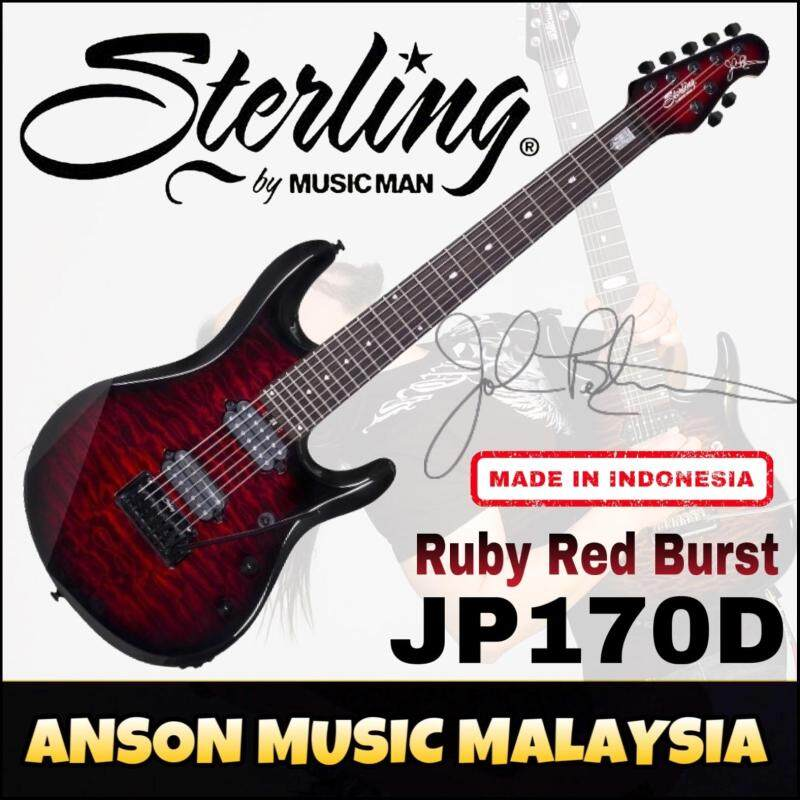 Sterling by Music Man JP170D John Petrucci Signature 7-String Electric Guitar, Ruby Red Burst(RRB) Malaysia