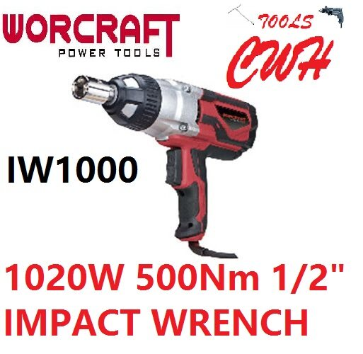 IW1000 1020W 500Nm 1/2  WORCRAFT IMPACT WRENCH SOCKET NUT DRIVER OPENER