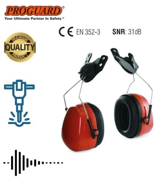 Supersonic III 31dB Noise Reduction Helmet Slotted Earmuff (w/o Helmet)  Hearing Protection PC10SE - EN 352-3 PROGUARD