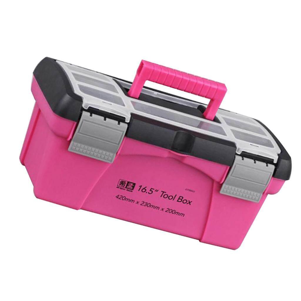 MagiDeal Pink Storage Box Toolbox Household Storage Box Multi-function Box