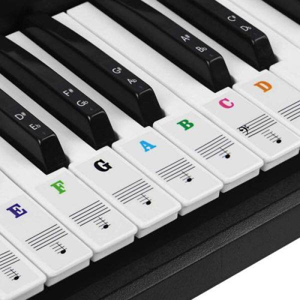 COOLBOTANG 61/88 key piano keyboard sticker note sticker peelable finger practice guide beginner piano practice (colorful) Malaysia