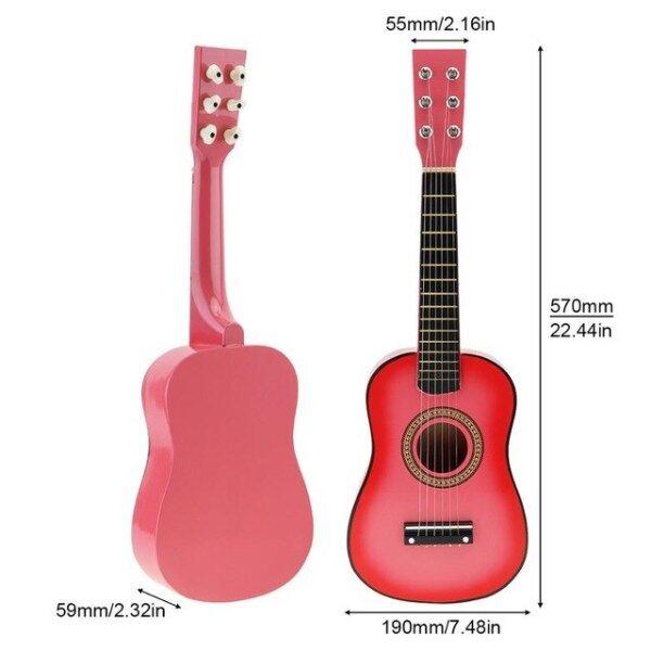 Đàn Ghi Ta Mộc Gỗ Trầm Màu Đen 23 Inch, Với Cây Đàn Guitar Với Pick Dây Dây Cho Trẻ Em Và Người Mới Bắt Đầu