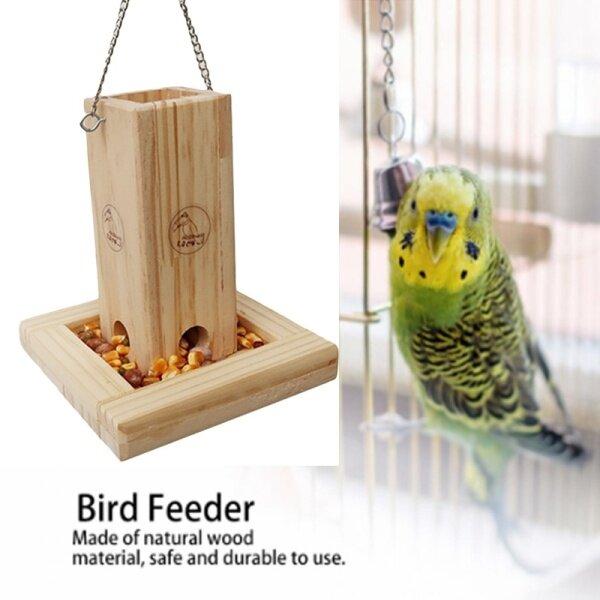 Bird Wooden Food Box Parrot Feeder