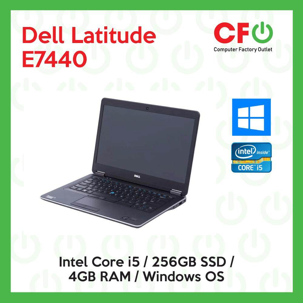 Dell Latitude E7440 / Intel Core i5 /4GB RAM / 256GB SSD / Windows OS Laptop / 1 Month Warranty (Factory Refurbished) Malaysia