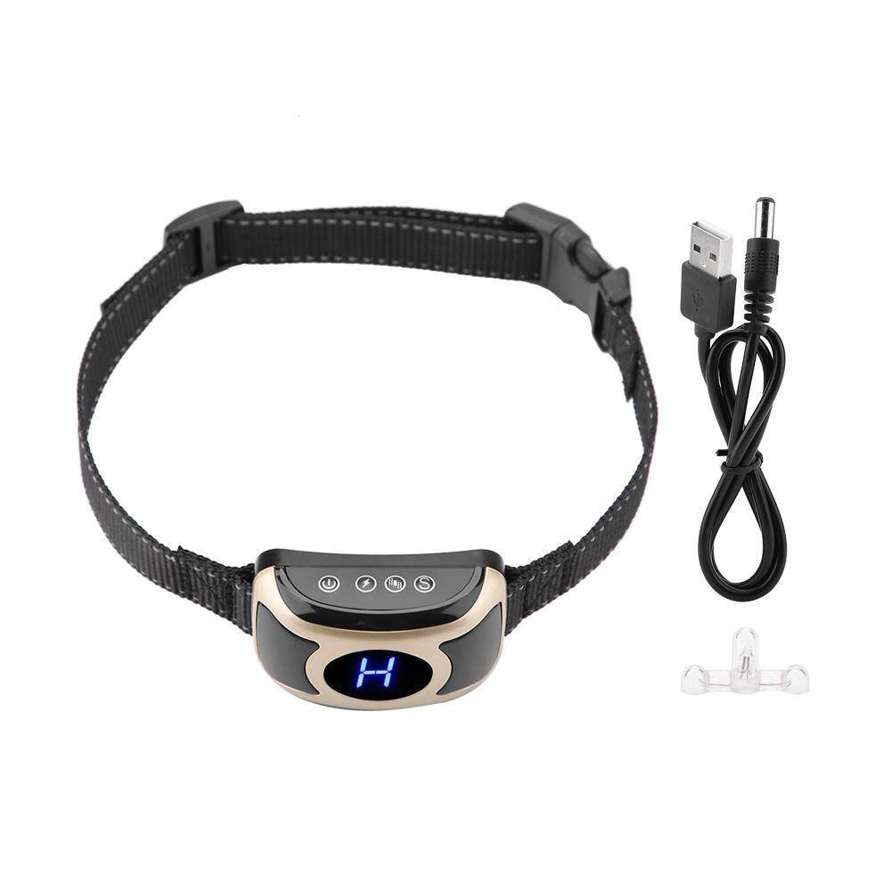 Deetee Dog Auto Anti Bark Collar With Big Lcd Display Shock Vibration Usb Pet Accessory By Deetee Shop.