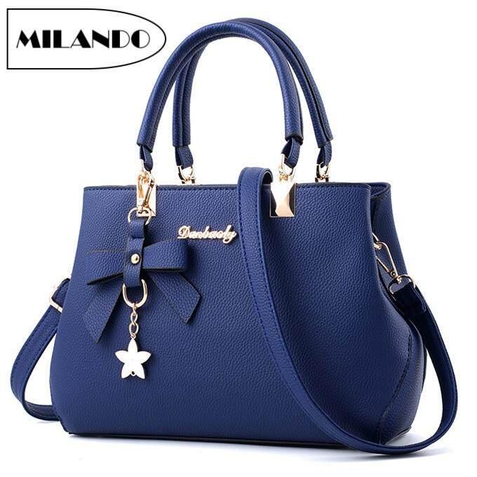 b25262980 MILANDO Ladies Women PU Leather Handbag Tote Sling Bag Handbeg Beg Wanita  (Type 3)