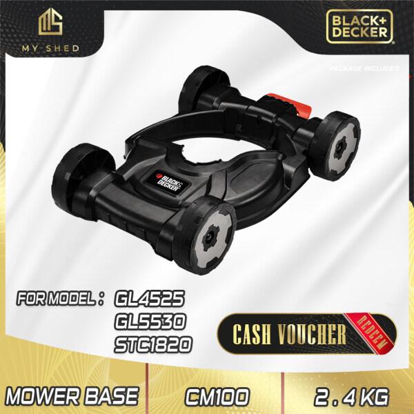 BLACK & DECKER CM100-B1 City Mower Deck Attachment For GL4525, GL5530, STC1820EPCF, STC1820 (CM100)