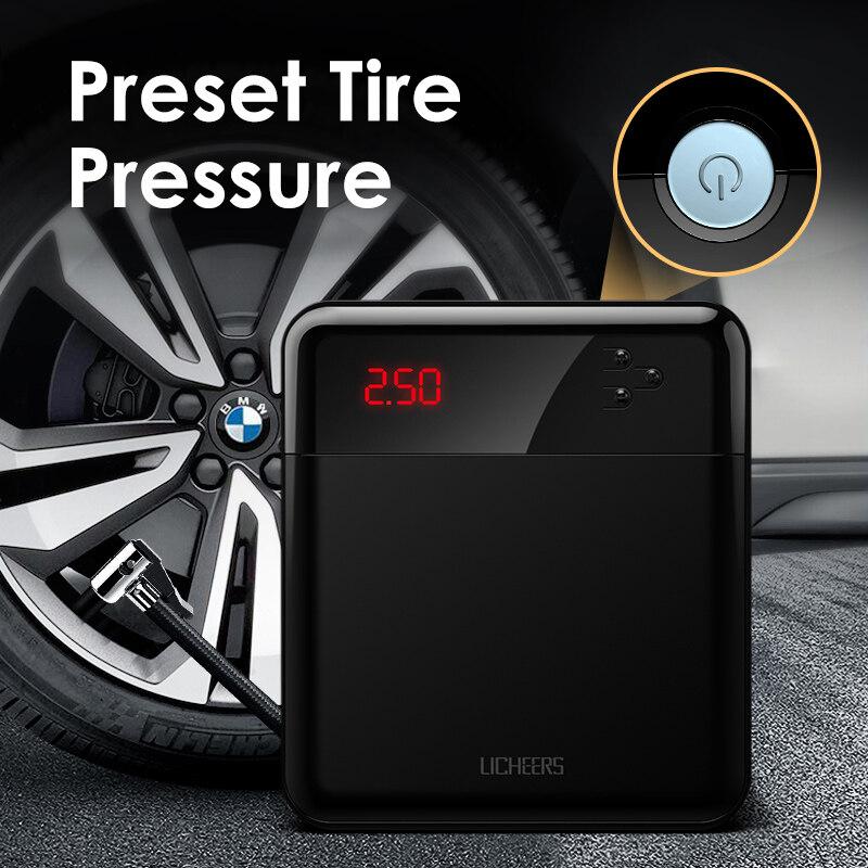 Air Compressor Tyre Pump Car Tire Pump Mini Cordless Portable Automobile Air Pump Vehicle Emergency Intelligent Inflator