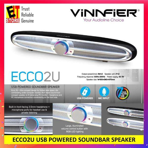 VINNFIER ECCO2U USB POWERED SOUNDBAR SPEAKER Malaysia