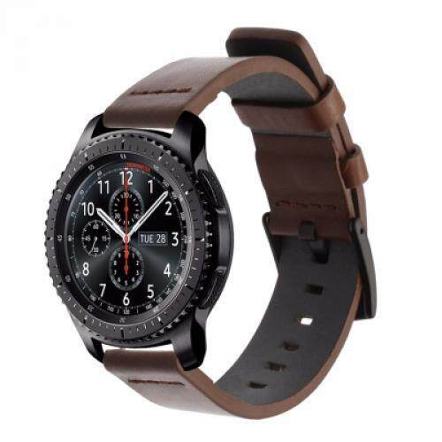 22MM Belt Genuine Luxury Leather Band Strap For Samsung Gear S3 Frontier Classic (DEEP COFFEE) Malaysia