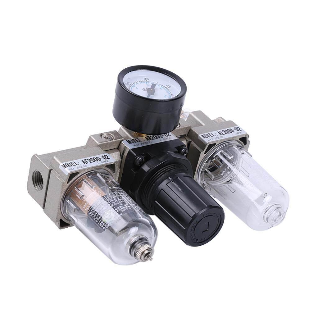 Gazechimp Pneumatic Air Pressure Filter/ Regulator ( 1/4inch) - Lubricator Moisture Water Trap Cleaner, Oil-water Separator