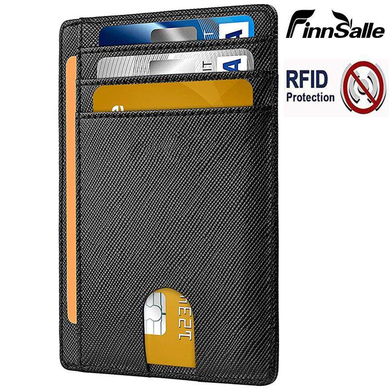 FinnSalle Slim Front Pocket Wallets for Men or Women with RFID Blocking &  Genuine Leather