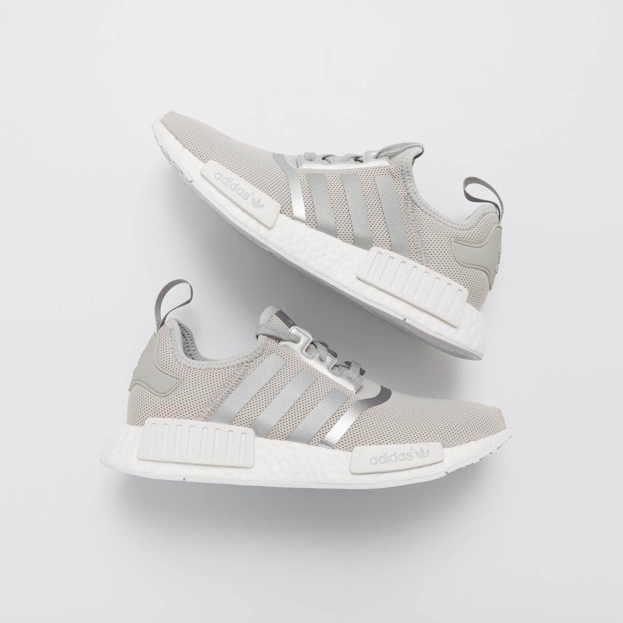 1d5fe991546e6 Sale ADIDA NMD  R1 Matte Silver S76004 Women and Mens Sneaker Grey