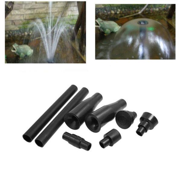 8pcs/Set Water Pump Nozzle Head Bath Fountain For Garden Pond Attachment Parts