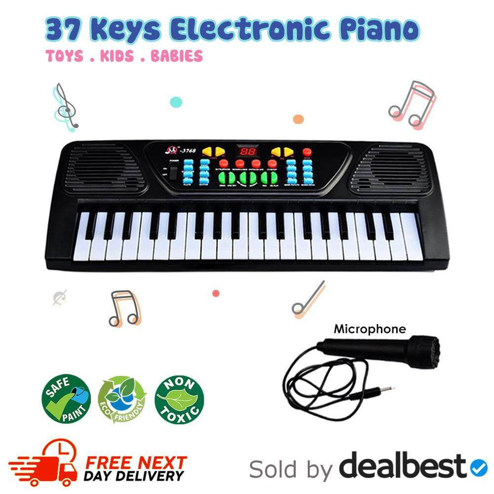 Multi Function 37 Keys Electronic Organ Piano Musical Kids Learning Keyboard Toy By Dealbest.
