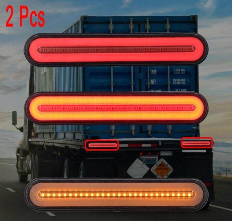 Đèn LED Chống Nước Phanh Hậu Đèn Sau 2 Chiếc 100 Đèn Led Xe Moóc Theo Ô Tô Đèn Phanh 3 Trong 1 Chống Nước IP68 Neon Halo