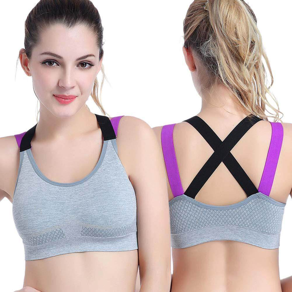 d7366d7c63a  Newkits  Sports Bra Top for Fitness Women Push Up Cross Straps Yoga  Running Gym