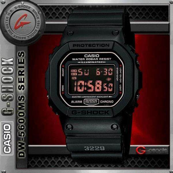 CASIO G-SHOCK DW-5600MS-1DR / DW-5600MS-1D / G-SHOCK DW-5600MS-1 / DW-5600MS MATT BLACK WATCH 100% ORIGINAL Malaysia