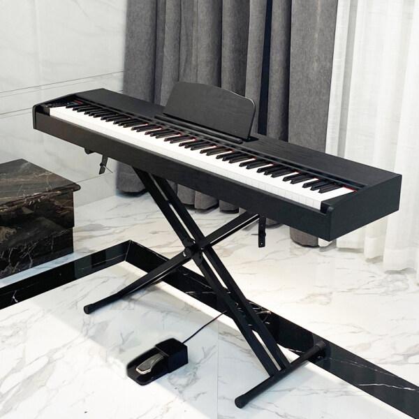 New Portable Digital Piano Electric Piano One Pedal Black Standard Keyboard Black Malaysia