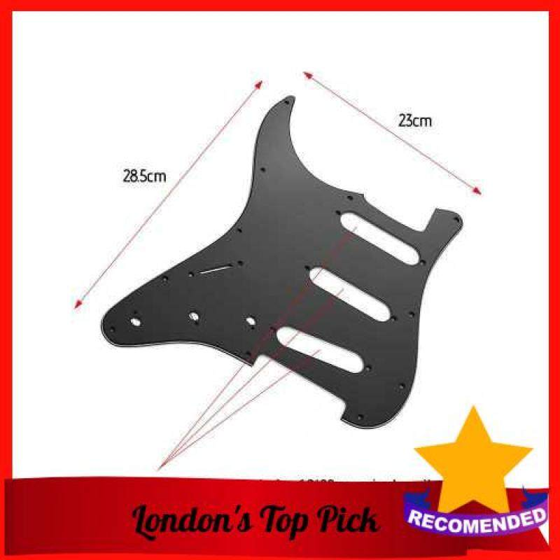 [ London ] SSS Electric Guitar Pickguard 3 Ply PVC Panels Left Handed Pickguard for ST Guitars Black (Black) Malaysia