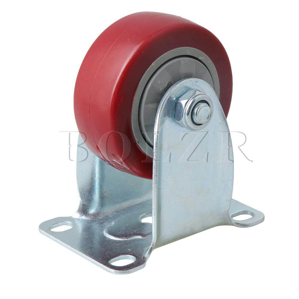 Metal&PVC Single Axis Directional Caster Wheel for Flatbed Truck Car Trolley Red