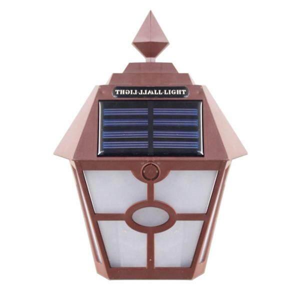 Retro Lục Giác Năng Lượng Mặt Trời Đèn LED Dán Tường Chống Thấm Nước Hàng Rào Chiếu Sáng Ngoài Trời Phong Cảnh