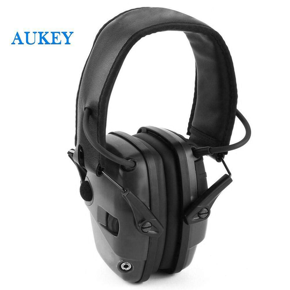Shooting Earmuff Tactical Protective Headset Professional Batteries Adjustable Headband Microphones Outdoor Army Hearing Protection Military Ear Defenders Sport Stereo Sound