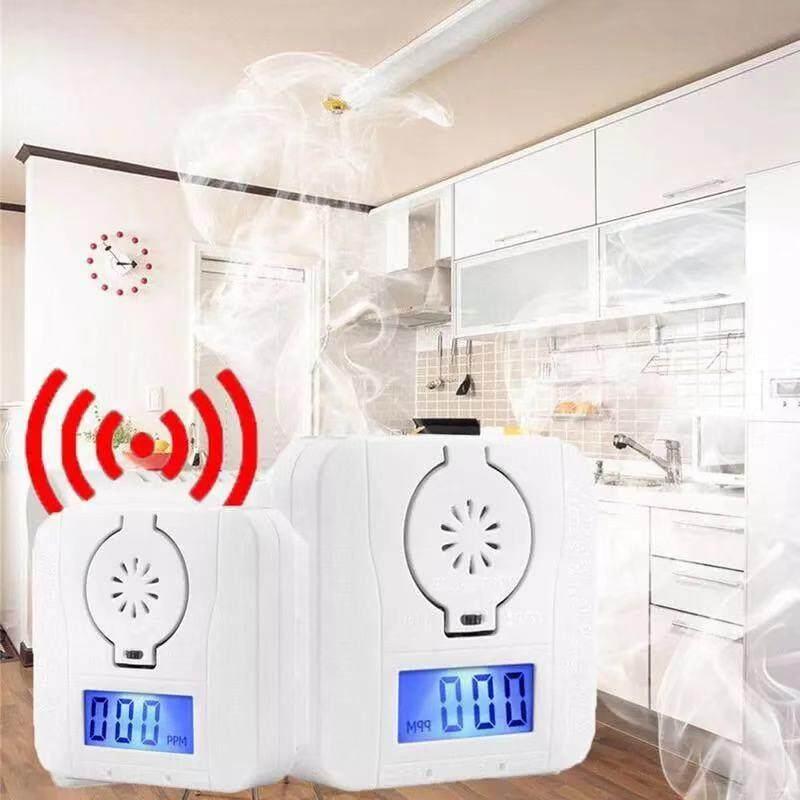 Sensitive Home Sensor Detector Wireless CO Carbon Monoxide Poisoning Smoke Gas Sensor Warning Alarm Detector LCD Indicator(Battery included)