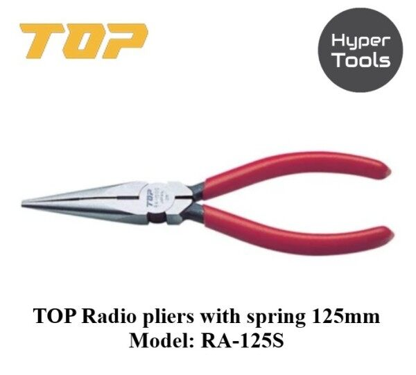 TOP S Type TOP Radio Pliers with Spring 125mm (Model: RA-125S)