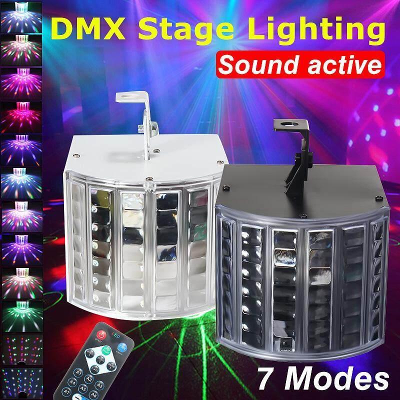 Đèn tiệc quán bar DJ sàn nhảy RGB LED 18W Đèn máy chiếu kích hoạt âm thanh điều khiển bằng giọng nói/tự hành/dx512 W/Đèn sân khấu hiệu ứng tủ quần áo điều khiển từ xa Sinh nhật karaoke đám cưới tại nhà 7CH