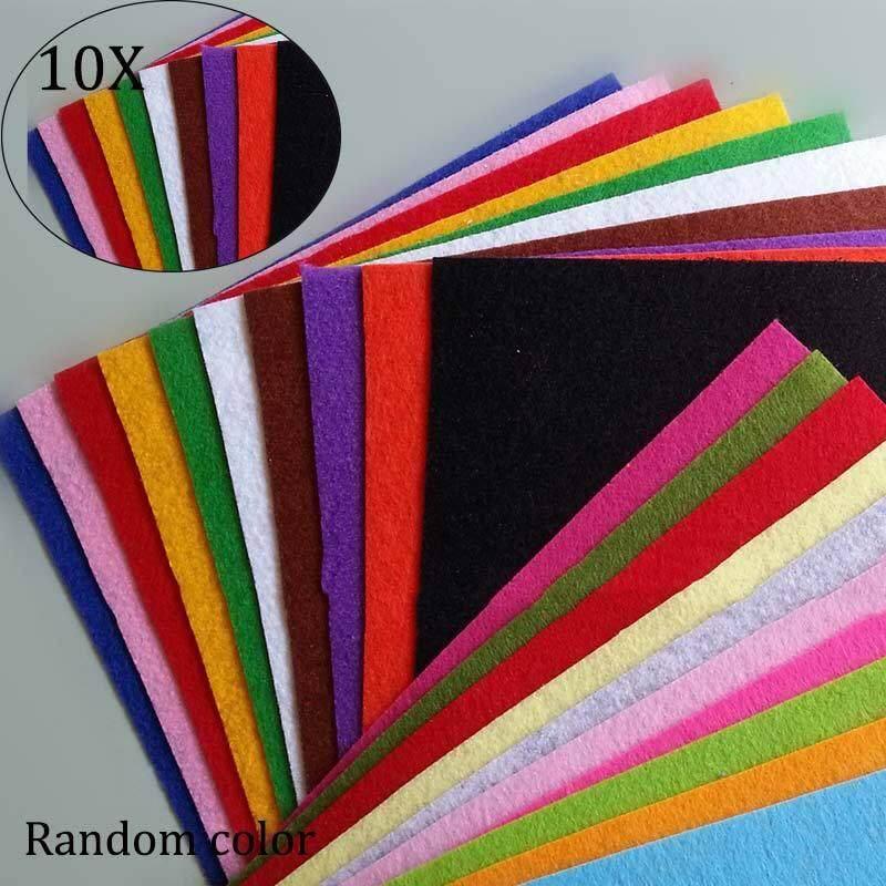 10 Chiếc Độ Dày 1 Mm Polyester Vải Nỉ Patchworkfelt Miếng Dán Cường Lực Vải Cho DIY Handmade May Nhà Giảm Duy Nhất Hôm Nay