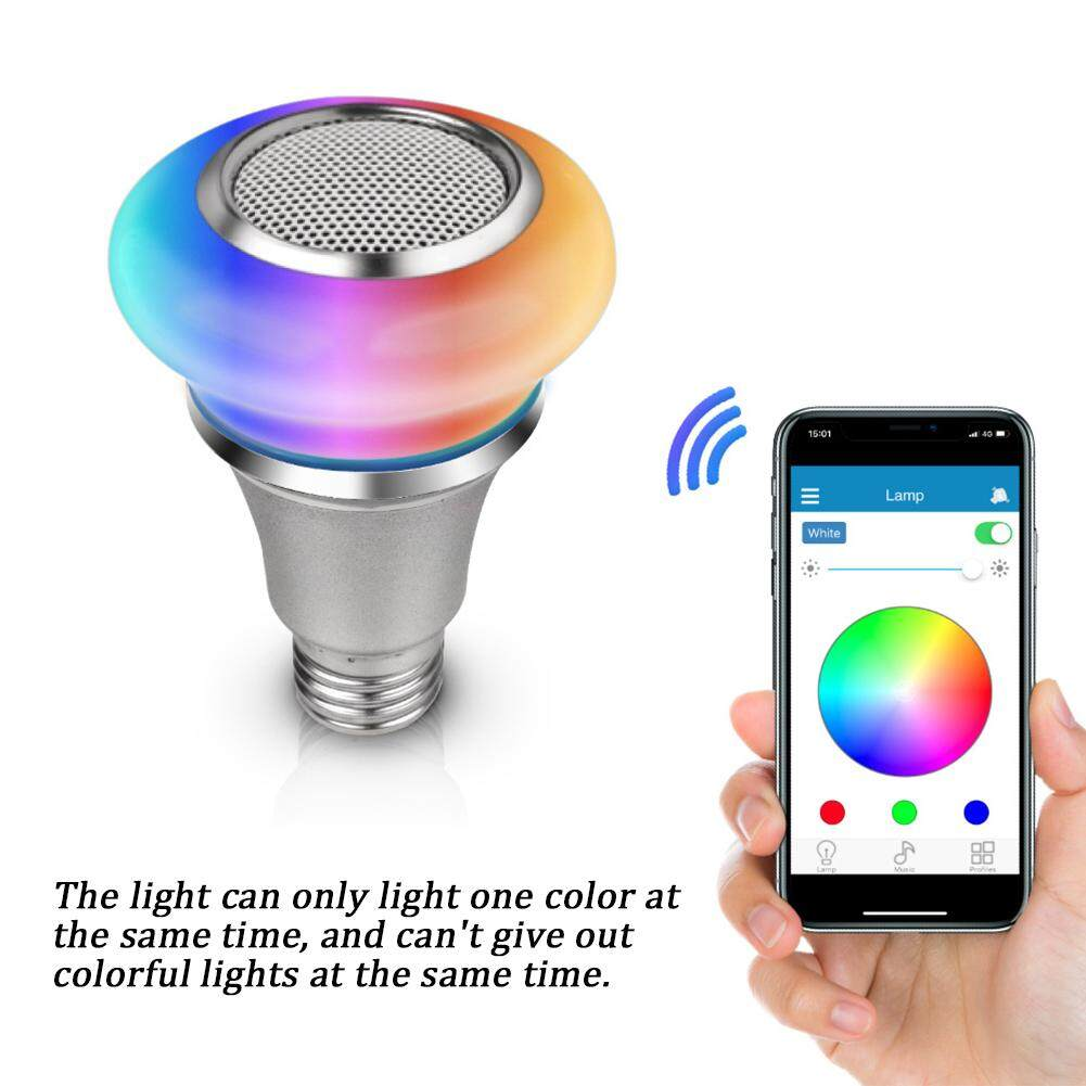 Bluetooth Speaker Color Changing Wireless Smart Life Playing Home Dimmable Remote Control RGB Mini Music Light Bulb