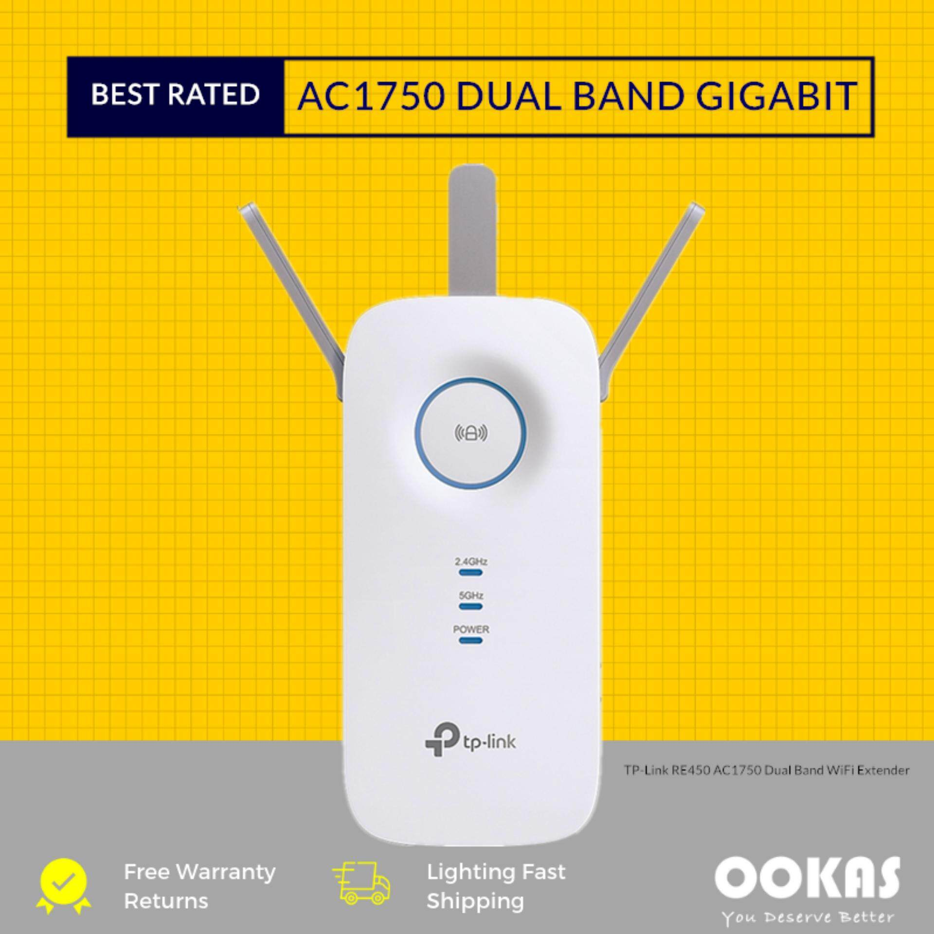 TP-LINK AC1750 Wi-Fi Range Extender RE450 Wireless Repeater / Booster (3  Pin)