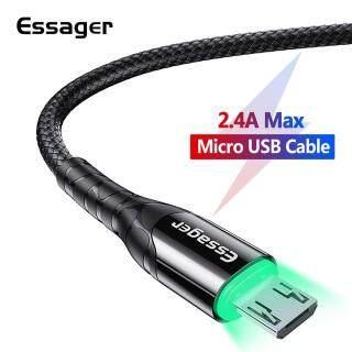 Essensager Cáp Micro USB LED 0.5M 1M 2M 3M Sạc Nhanh, Cáp Micro USB Cho Điện Thoại Di Động Android Xiaomi Redmi Note 5 thumbnail