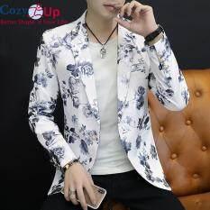 Bộ Váy Nam Cozy Up Áo Khoác Sang Trọng Jacquard Ghi Chú Ve Áo Hoa Blazer Đầm Trang Trọng Prom