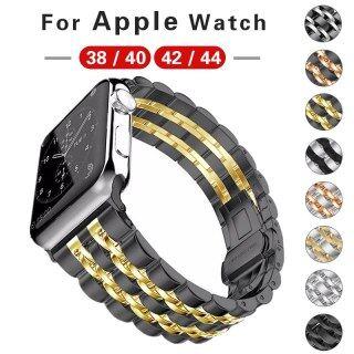 Dây Đeo Cổ Tay Cho Apple Watch Band Series 5 4 3 Phụ Kiện Đồng Hồ Thép Không Gỉ Cho I Watch 44 42 40 38Mm Vòng Đeo Tay Thay Thế thumbnail