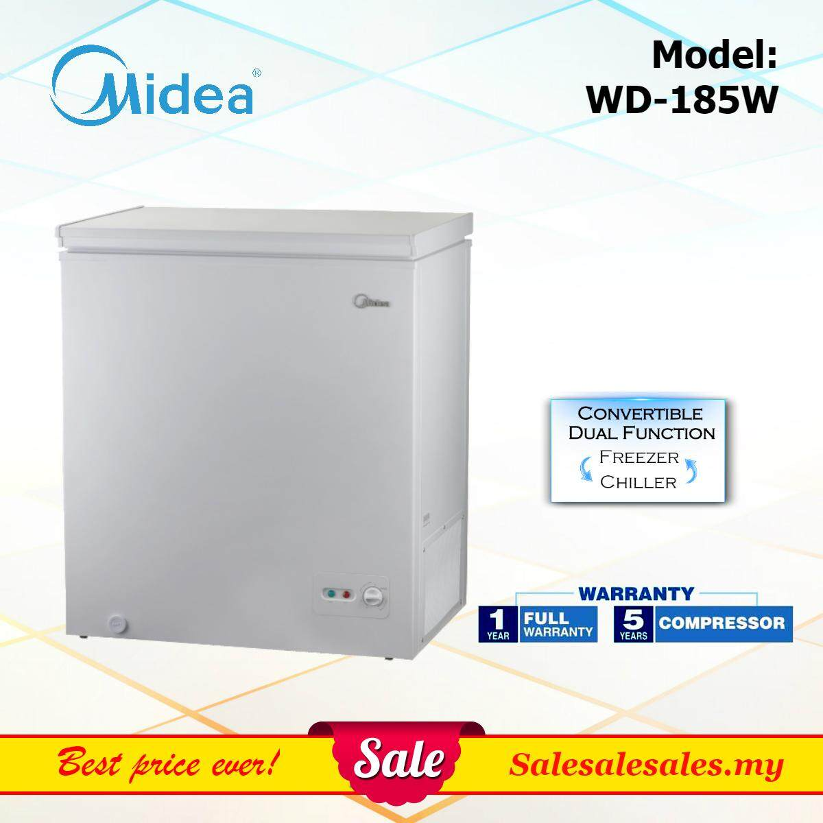 Midea WD-185W 185L (142L Net) Chest Freezer with Dual Function Peti Beku