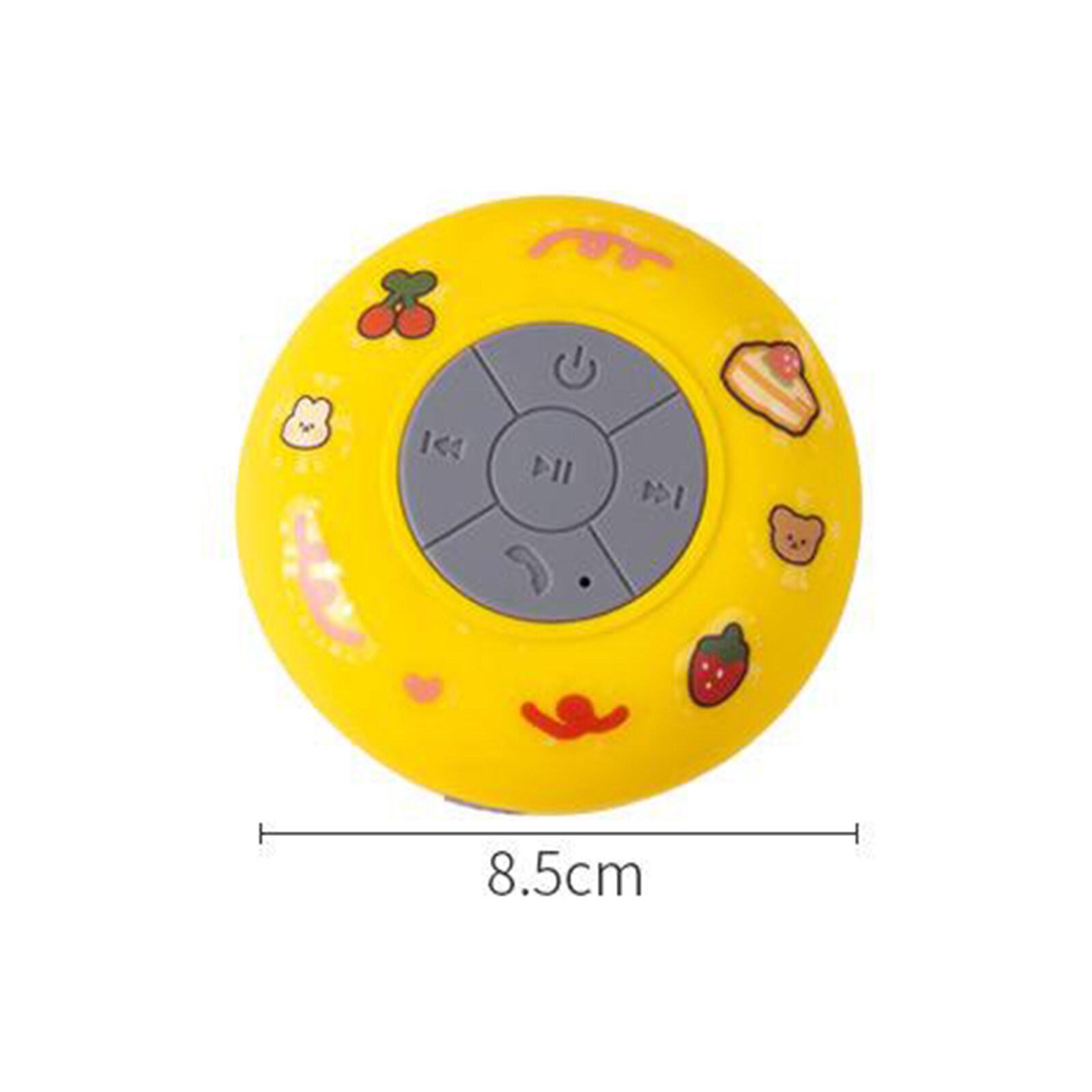 【FREE 1 x Cartoon Sticker】MOMBA LIVING Portable Cute Wireless Mini Bluetooth Speaker Waterproof Bathroom Shower Speaker 3W Bathroom Bass