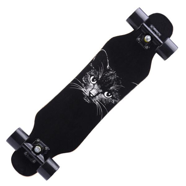 Longboard Road Skateboard Xe Tay Ga Bốn Bánh Thanh Niên Bé Trai Và Bé Gái Ban Nhảy Dành Cho Người Lớn Bàn Chải Đường Phố Ván Trượt Cho Người Mới Bắt Đầu