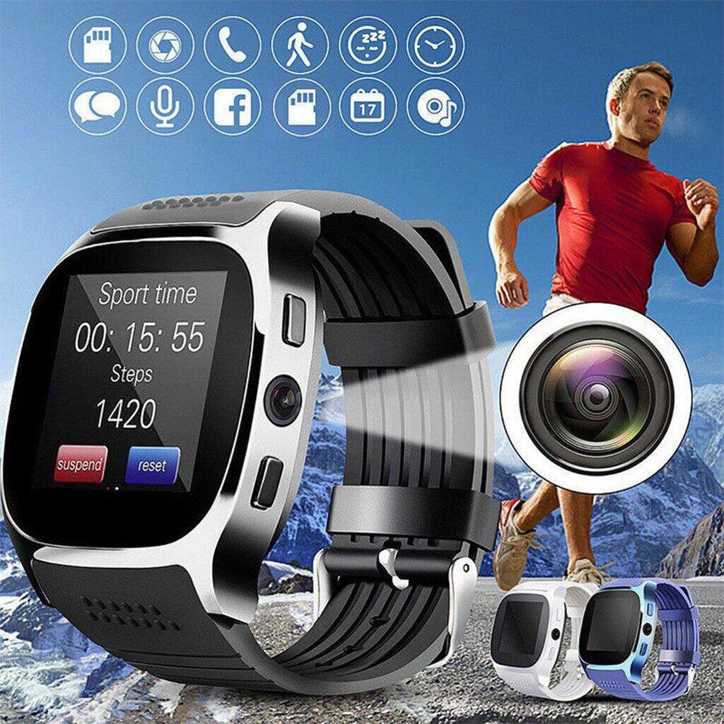 Đồng Hồ Thông Minh Bluetooth T8 Có Camera, Hỗ Trợ SIM, Đếm Bước Chân, Thẻ TF, Đồng Hồ Thể Thao Cho Nam Và Nữ, Gọi Điện Cho Điện Thoại Android