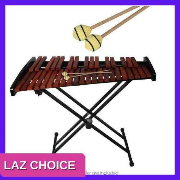 LAZ CHOICE Marimba Stick Mallets Xylophone Glockensplel Mallet with Beech Handle Percussion Instrument Accessories for Professionals Amateurs 1 Pair (Wood Color) Malaysia