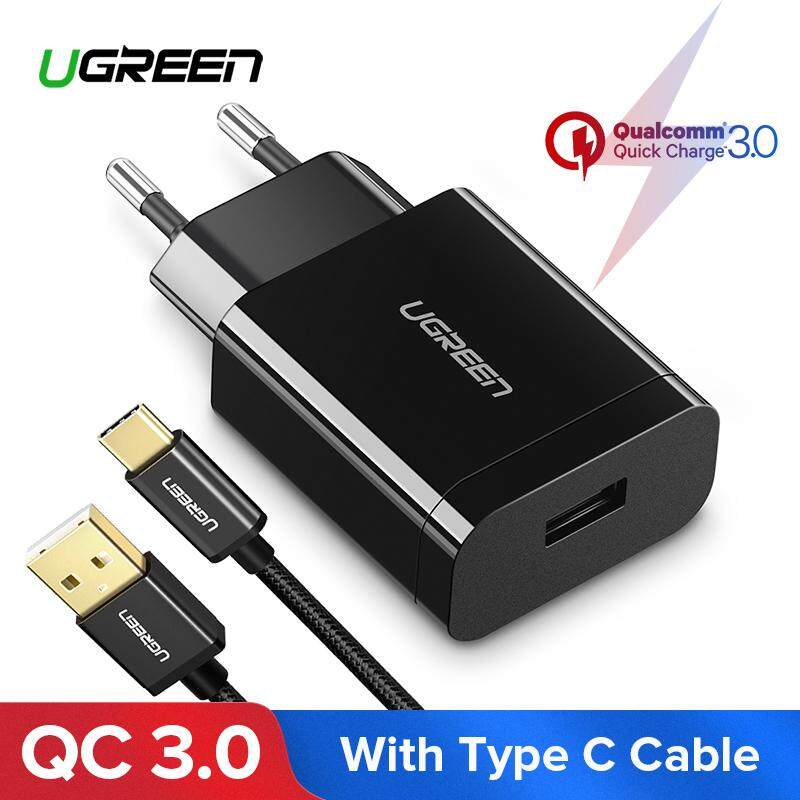 UGREEN Qualcomm Certified Quick Charge 3.0 18W USB Wall Charger Phone Charger with free 1m Type