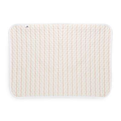 Heart Print Water-resistant Reusable Baby Changing Pad Middle Size (WARM WHITE)